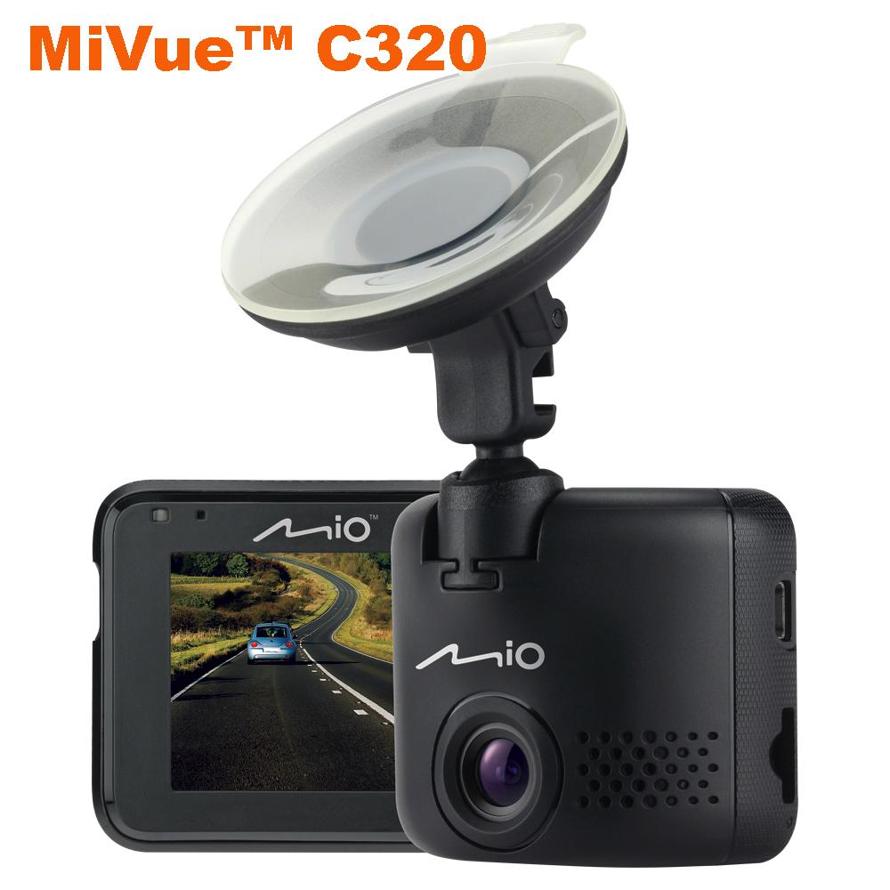 《 送16G+三孔+3M膠置物網+手機指環》Mio MiVue C320 大光圈 感光元件 行車記錄器