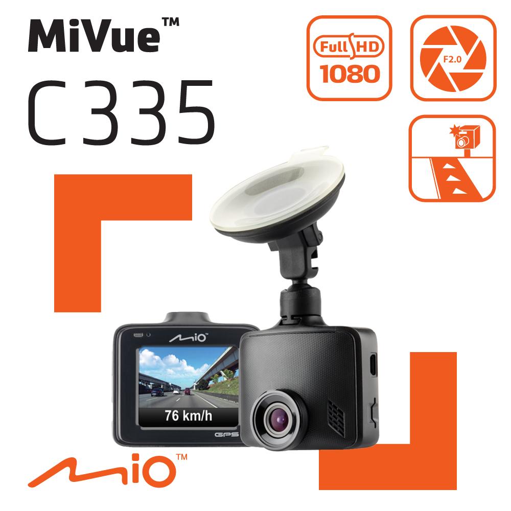 <送靜電貼3入>Mio MiVue™  C335 GPS+測速 F2.0大光圈 行車記錄器