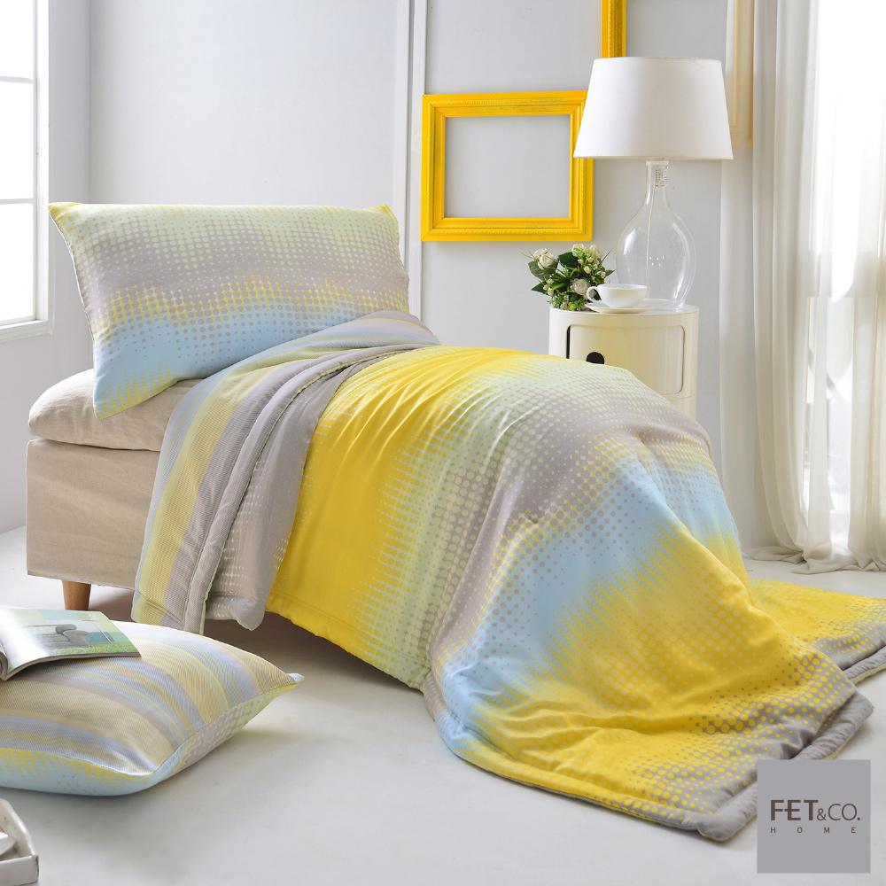 【FET&co.寢飾】城市光點天絲-舒柔系列涼被枕套三件組(單人涼被+信封枕套x2)