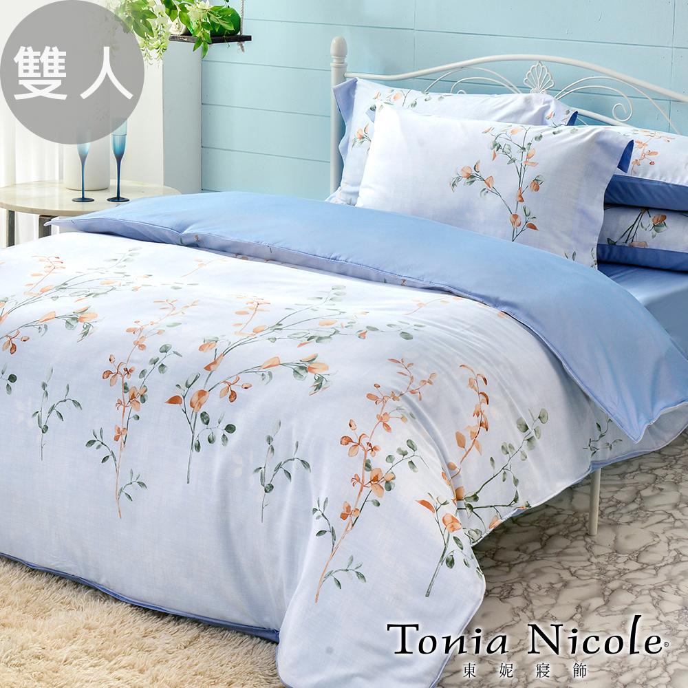 【Tonia Nicole 東妮寢飾】碧珀微風60支環保印染100%精梳棉兩用被床包組(雙人)