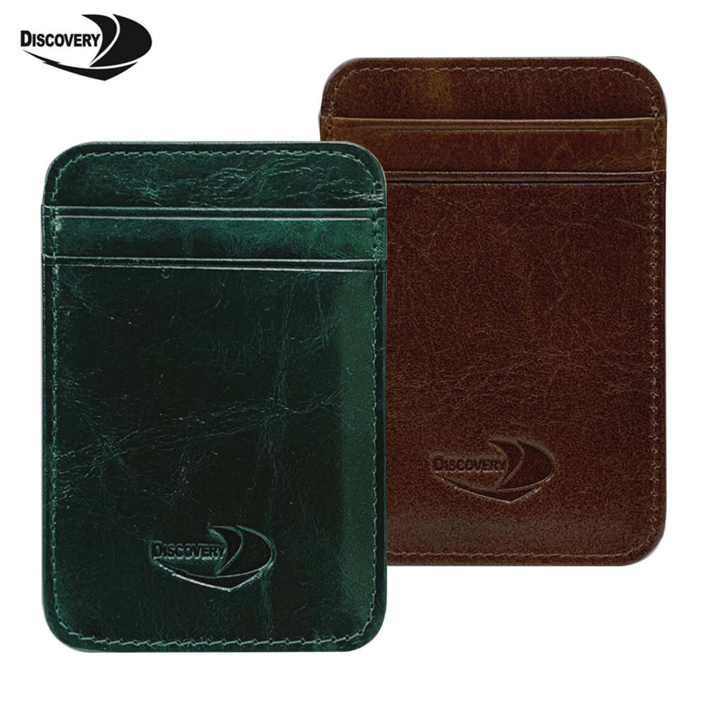 【Discovery】5卡位全牛皮卡片夾/證件夾PH29096