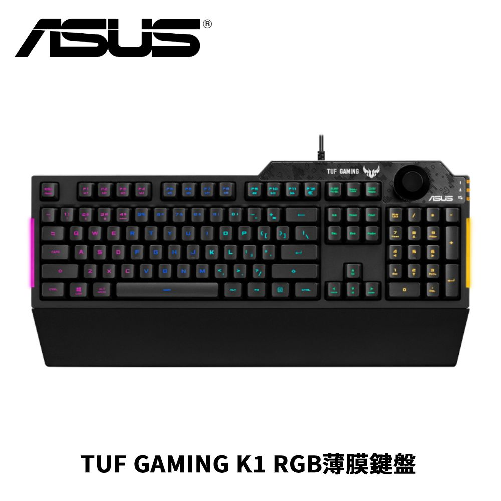 ASUS 華碩 TUF GAMING K1 RGB薄膜鍵盤