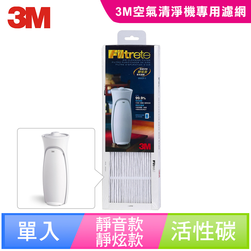【N95口罩濾淨原理】3M 空氣清靜機超濾淨型-靜炫款專用濾網FAP00-1filter