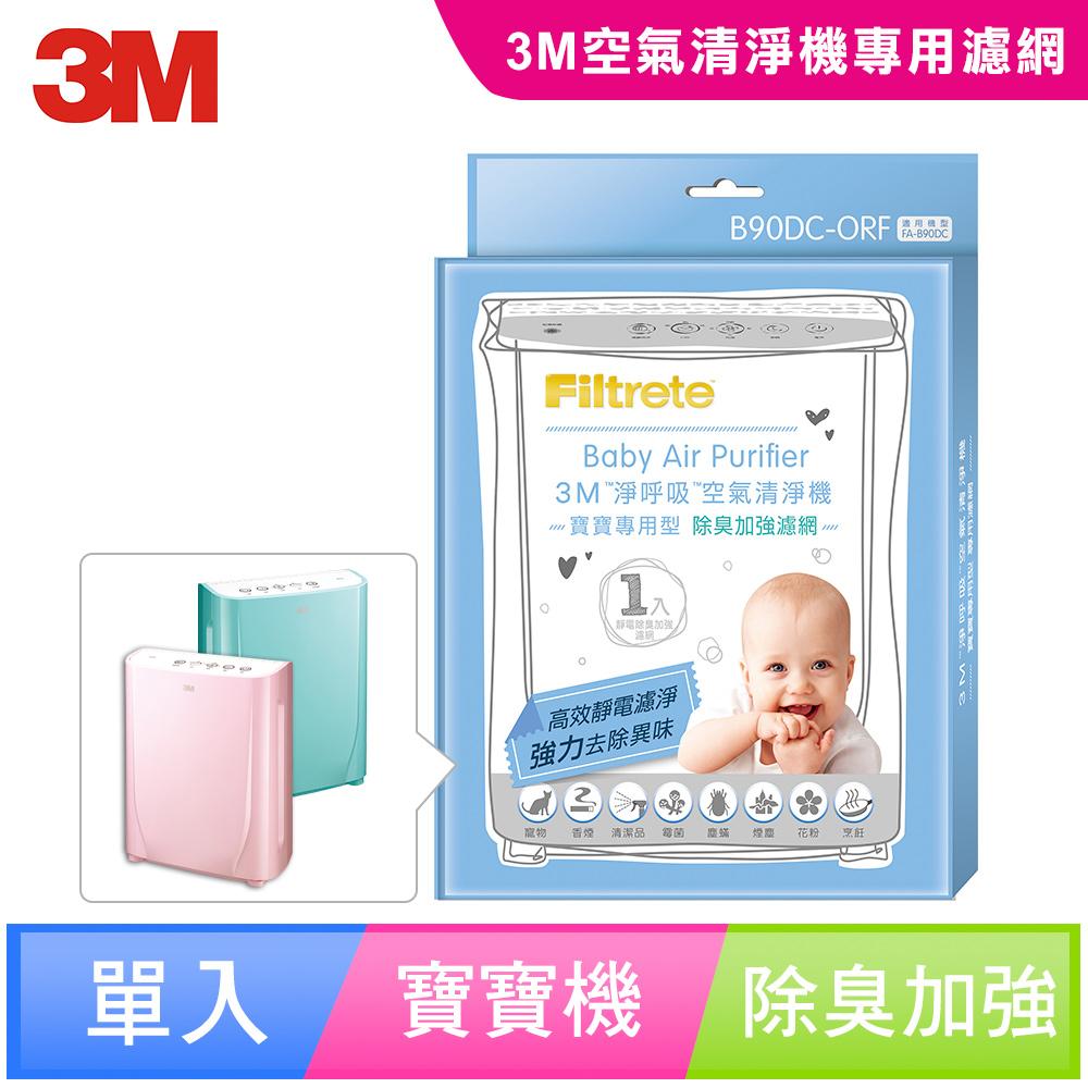 【N95口罩濾淨原理】3M 淨呼吸寶寶專用型空氣清淨機專用除臭加強濾網