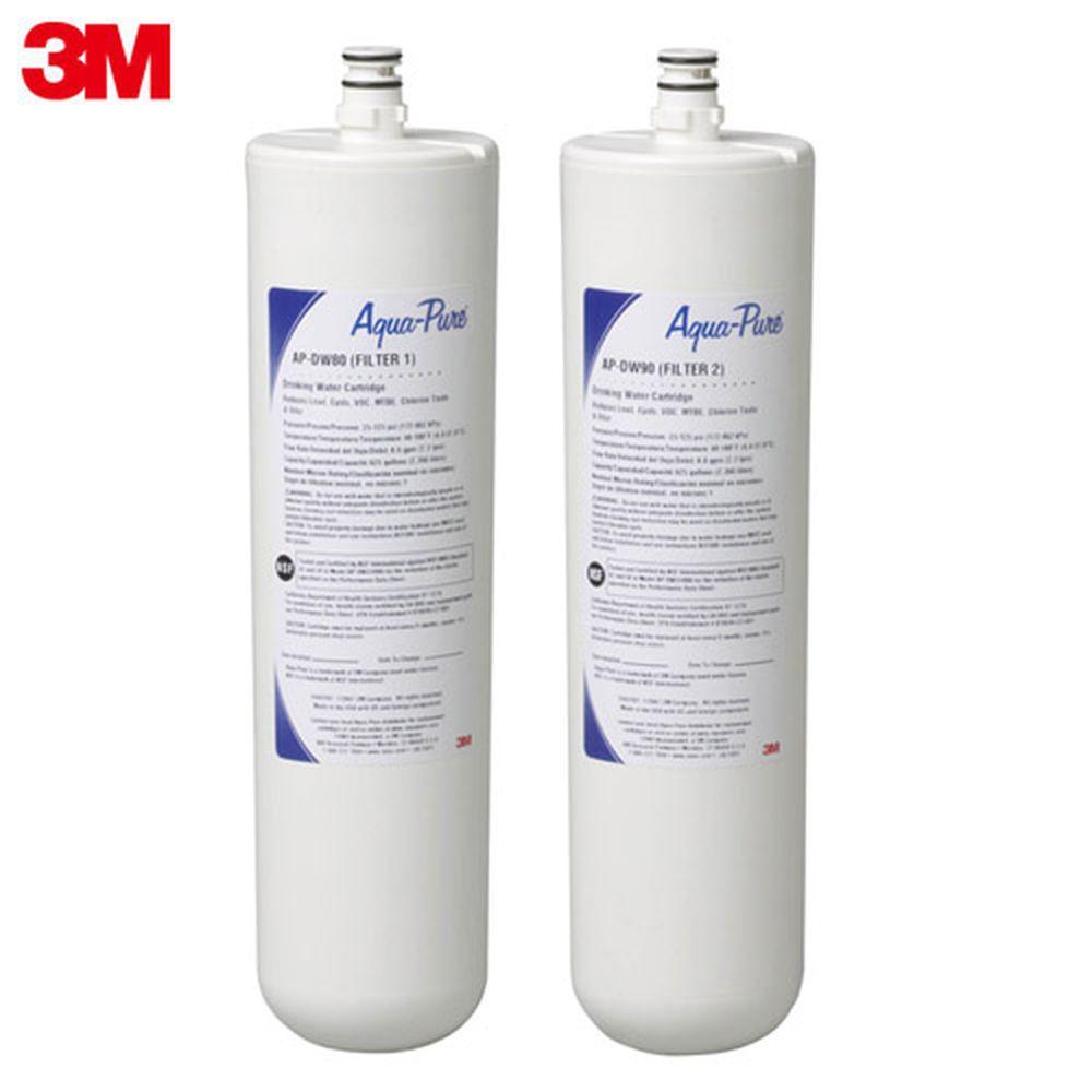 3M AP-DWS1000廚下型淨水系統替換濾心(AP-DWS80/90)