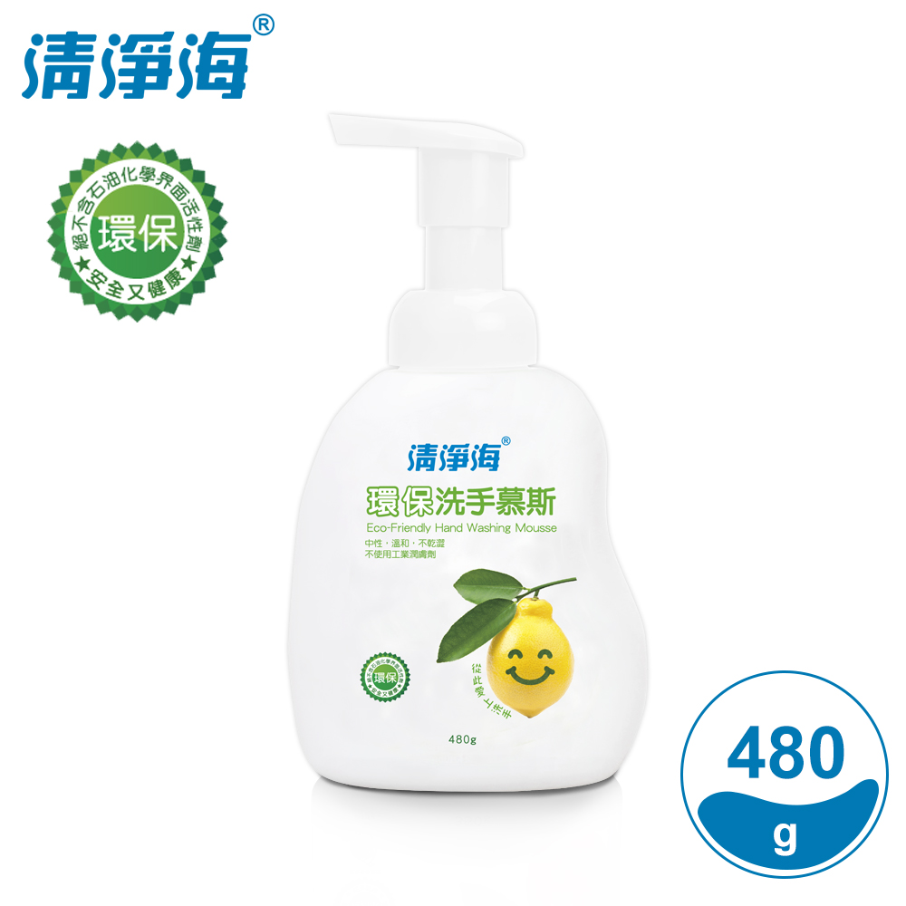 清淨海 環保洗手慕斯(檸檬飄香) 480g(超值6入組)