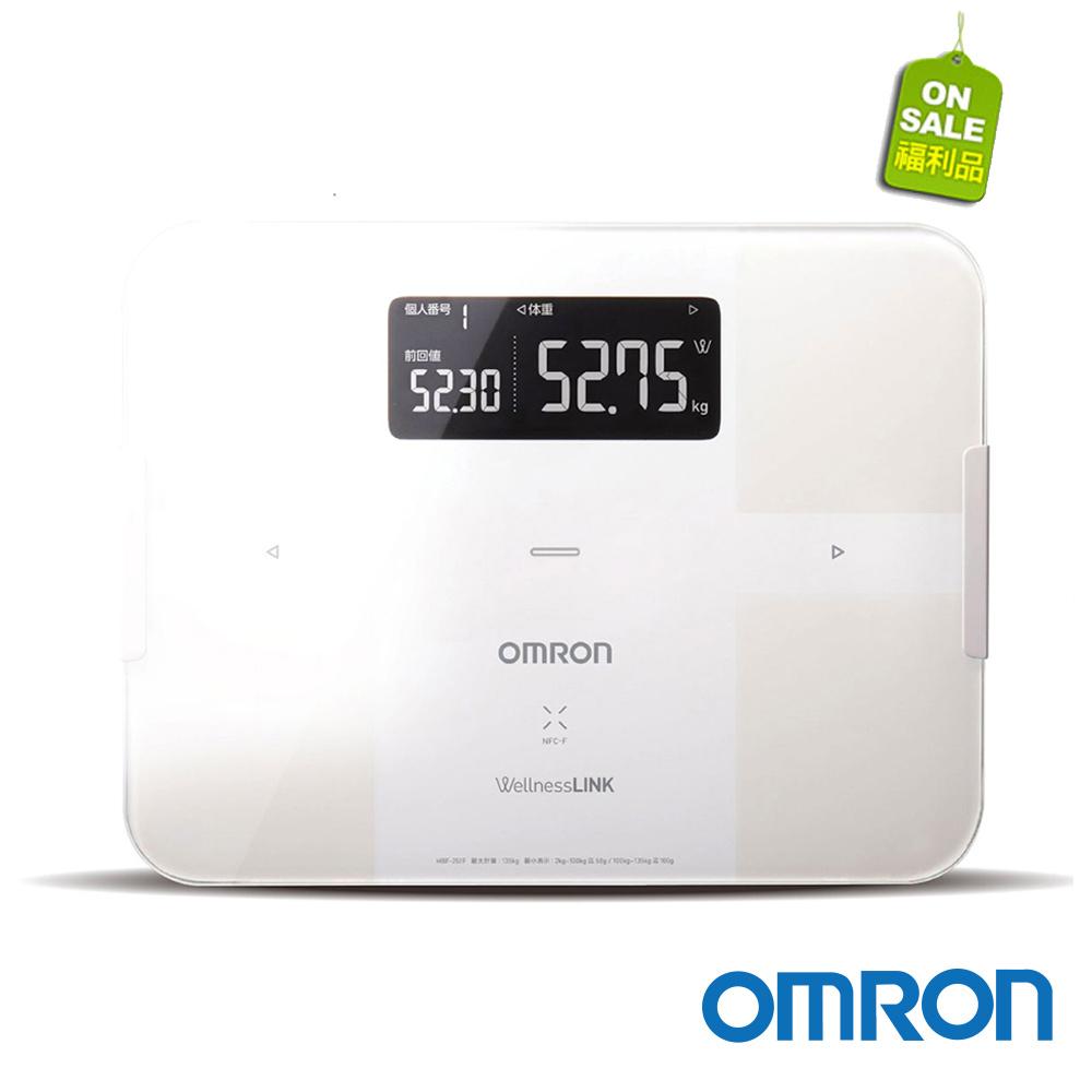 【福利品】OMRON歐姆龍藍芽智慧體重體脂計 HBF-254C白色_福利網獨享