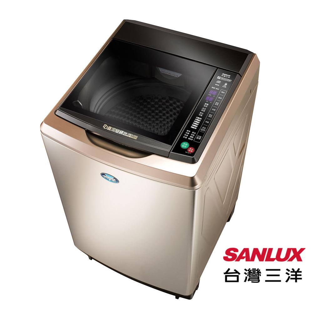 台灣三洋18公斤DD直流變頻超音波洗衣機(內外不鏽鋼)SW-19DVGS
