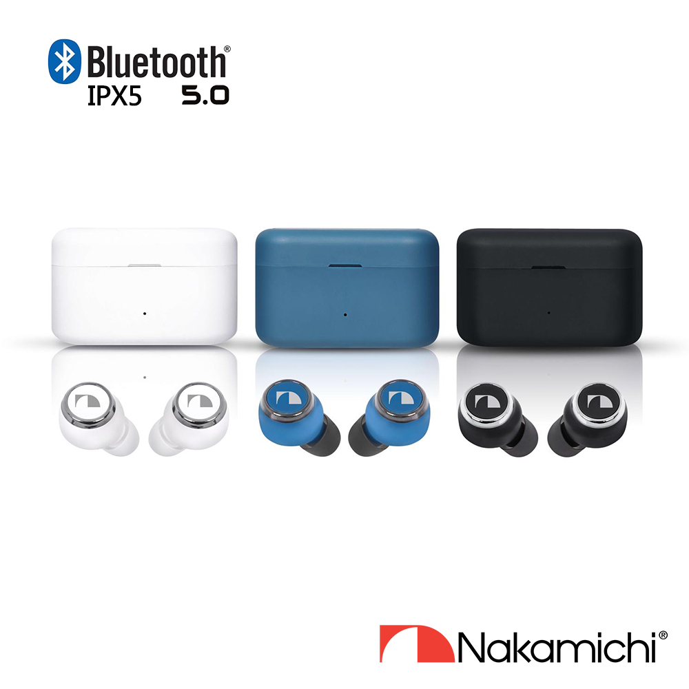 Nakamichi My music HUE PLUS 真無線耳機【送原廠藍芽小喇叭-NK MYMEIRYO LITE-BK】