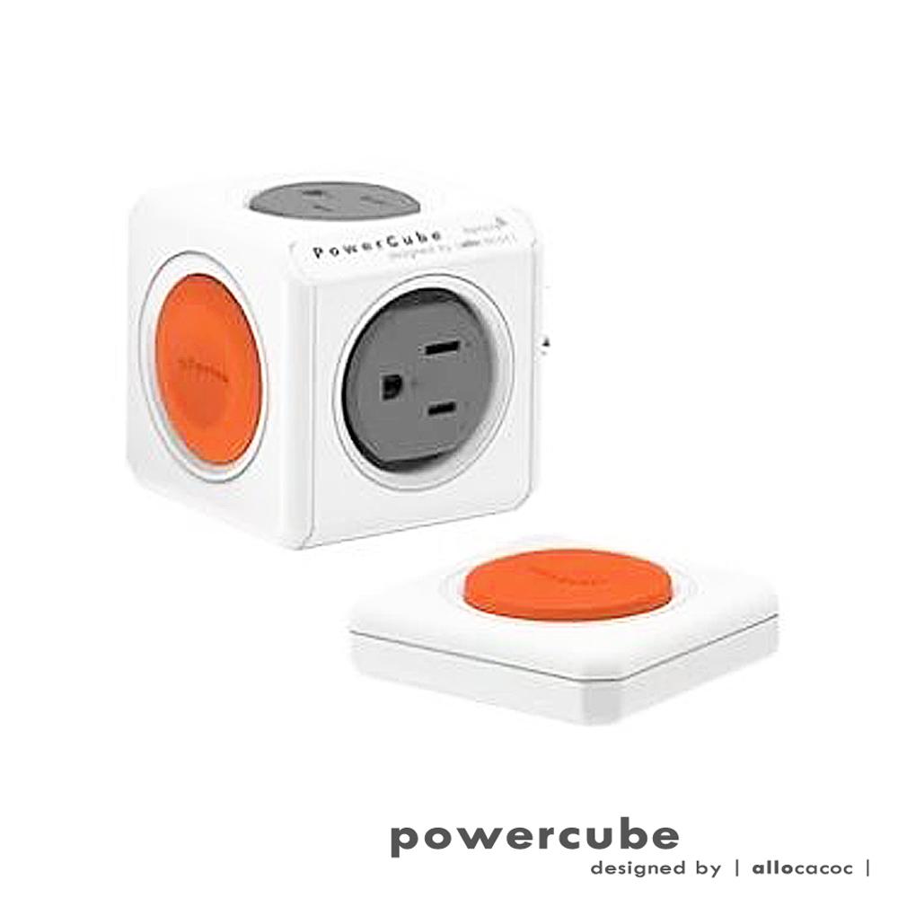 POWERCUBE 1540 3孔4座遙控擴充插座(橘)