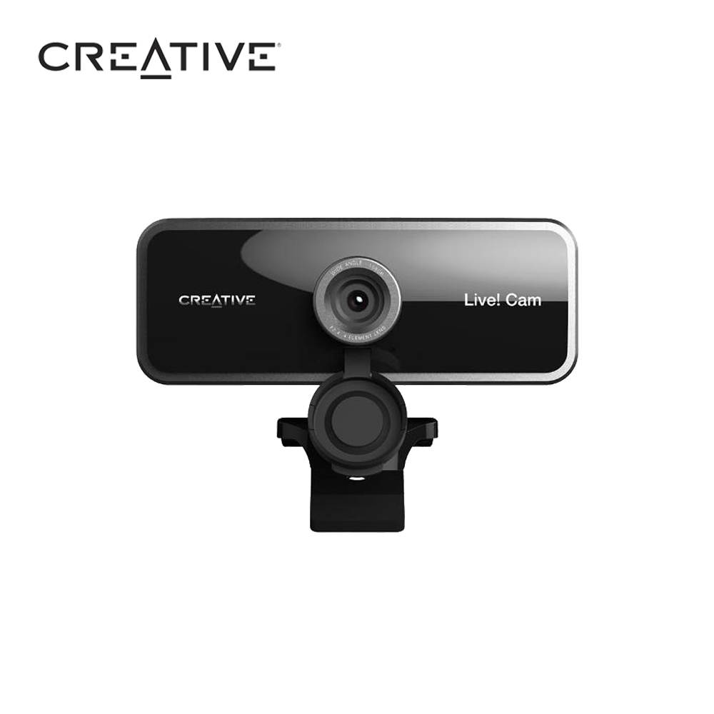 【居家辦公首選】Creative VF0860 LIVE! CAM SYNC 全高清廣角網路攝影機
