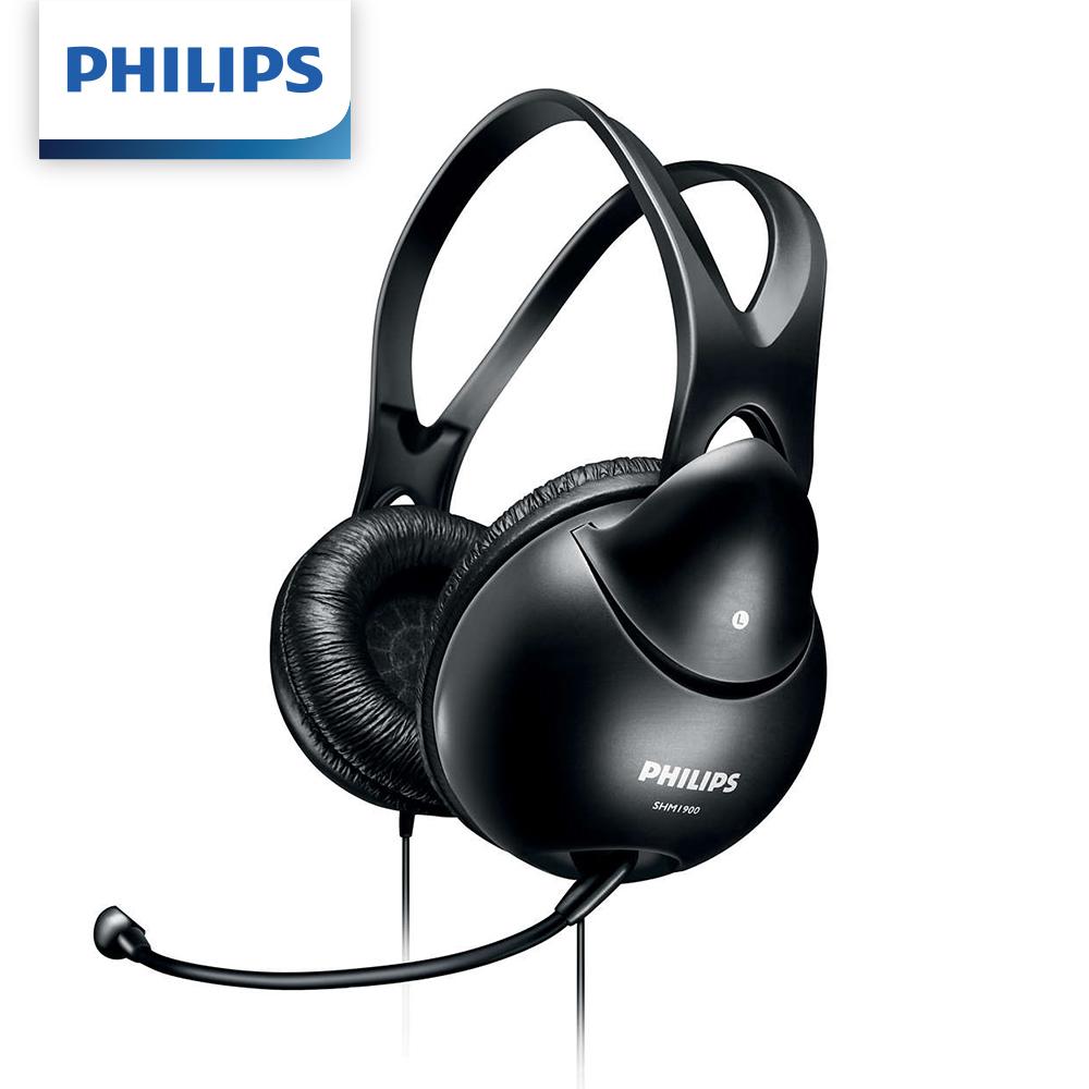 【二入組】Philips 飛利浦頭戴式電腦耳機麥克風 SHM1900