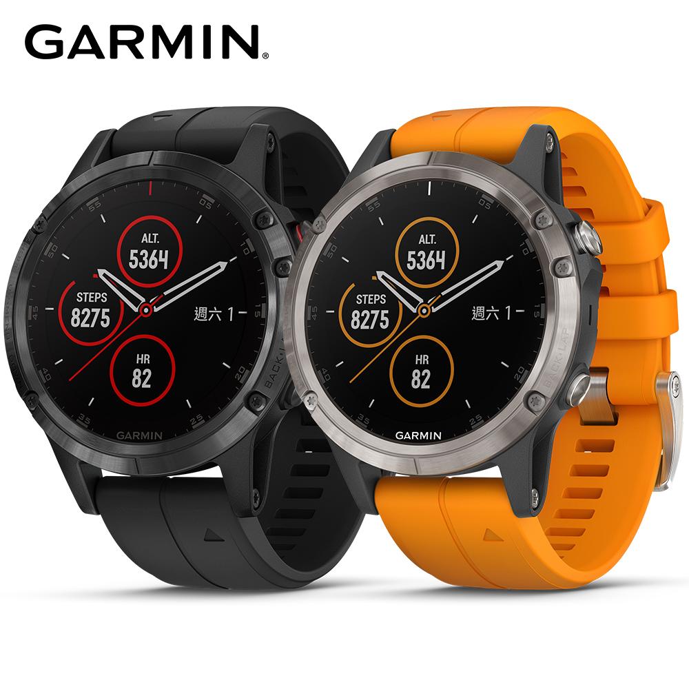 GARMIN fenix 5 Plus 行動支付音樂GPS複合式心率腕錶