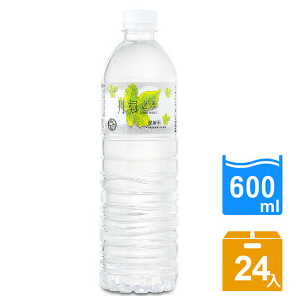【DRINK WATER丹楓之水】麥飯石礦泉水600ml(24瓶/箱) FDF-DW600x1
