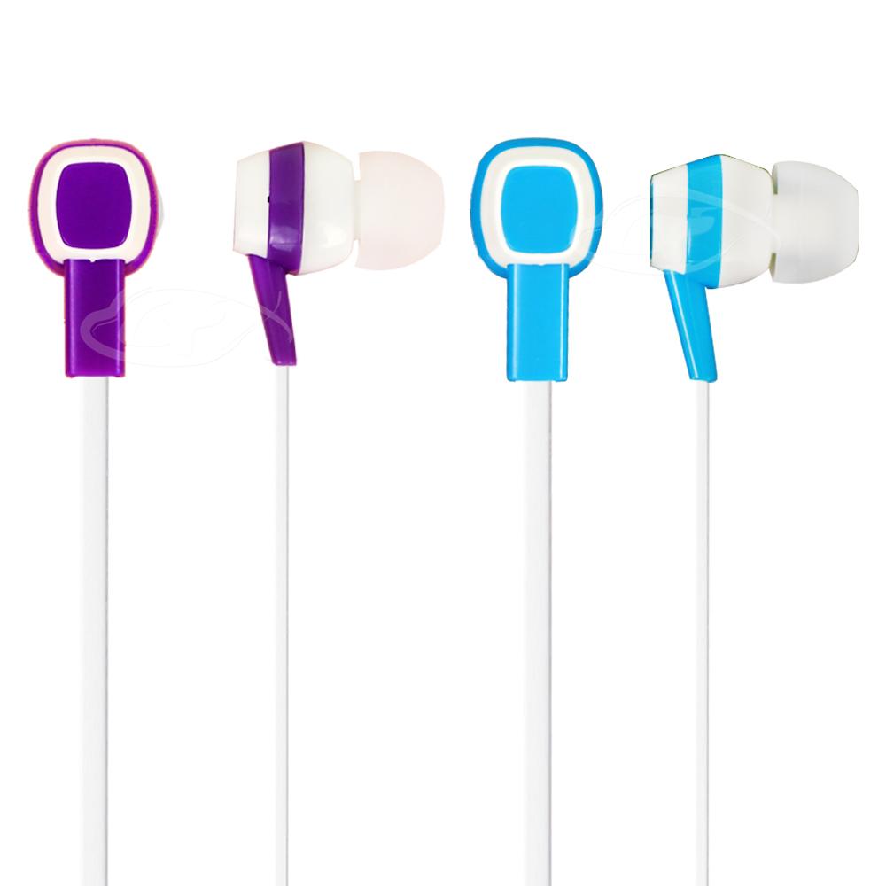 【LIBERTY利百代】雙色渲染-入耳式防纏繞扁線立體聲音效耳機  LB-1518