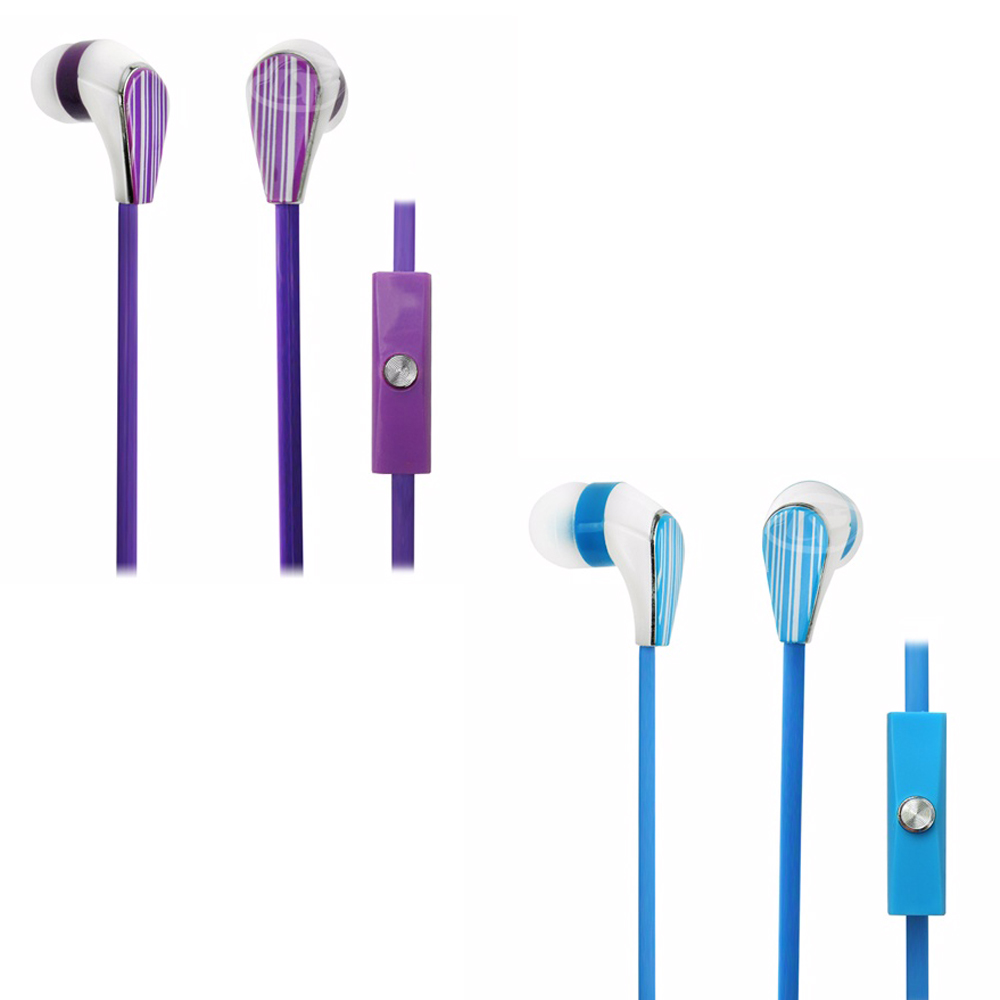 【Glitter】條紋時尚-高音質手機耳麥