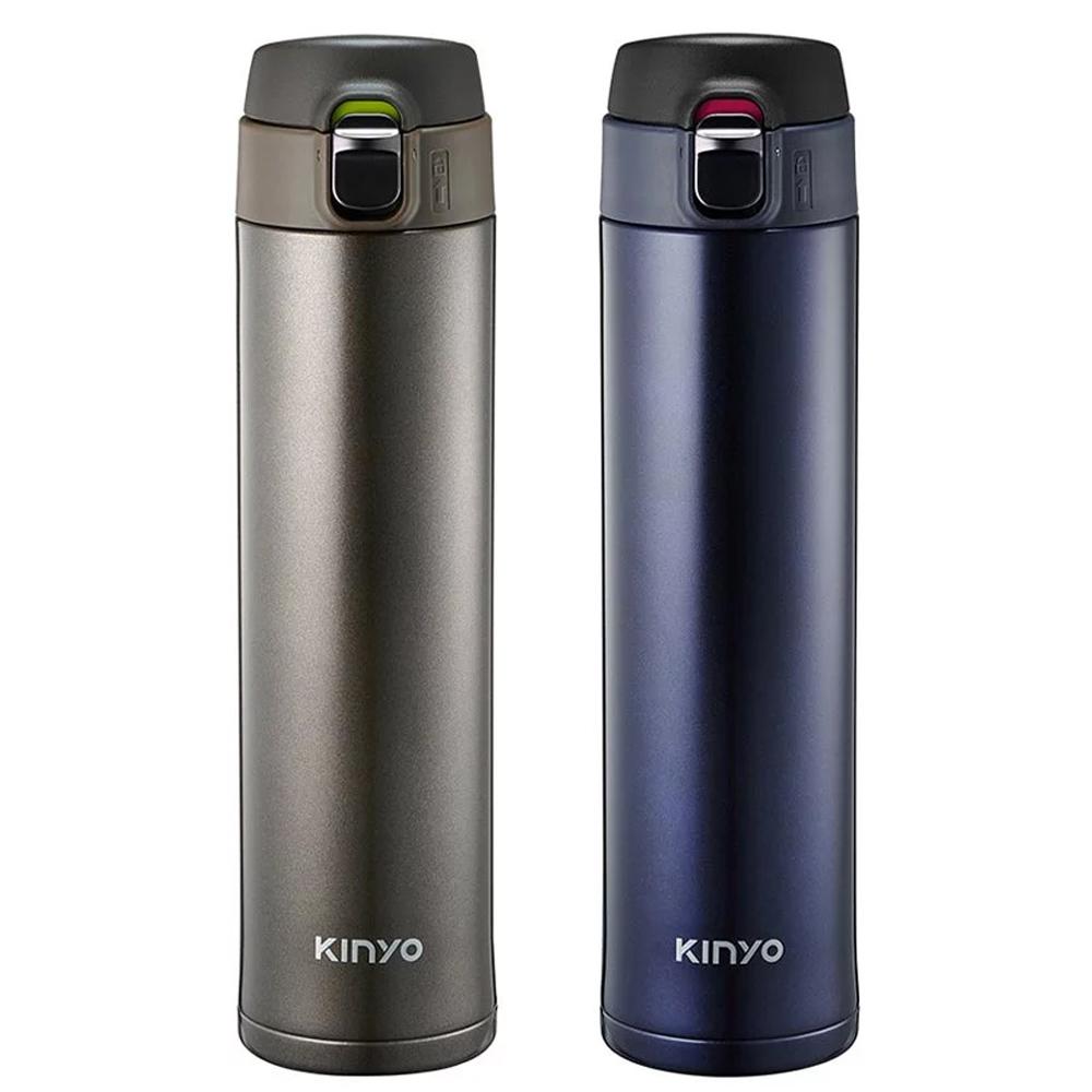 【KINYO】304不鏽鋼大容量保溫杯520ml (KIM-32)
