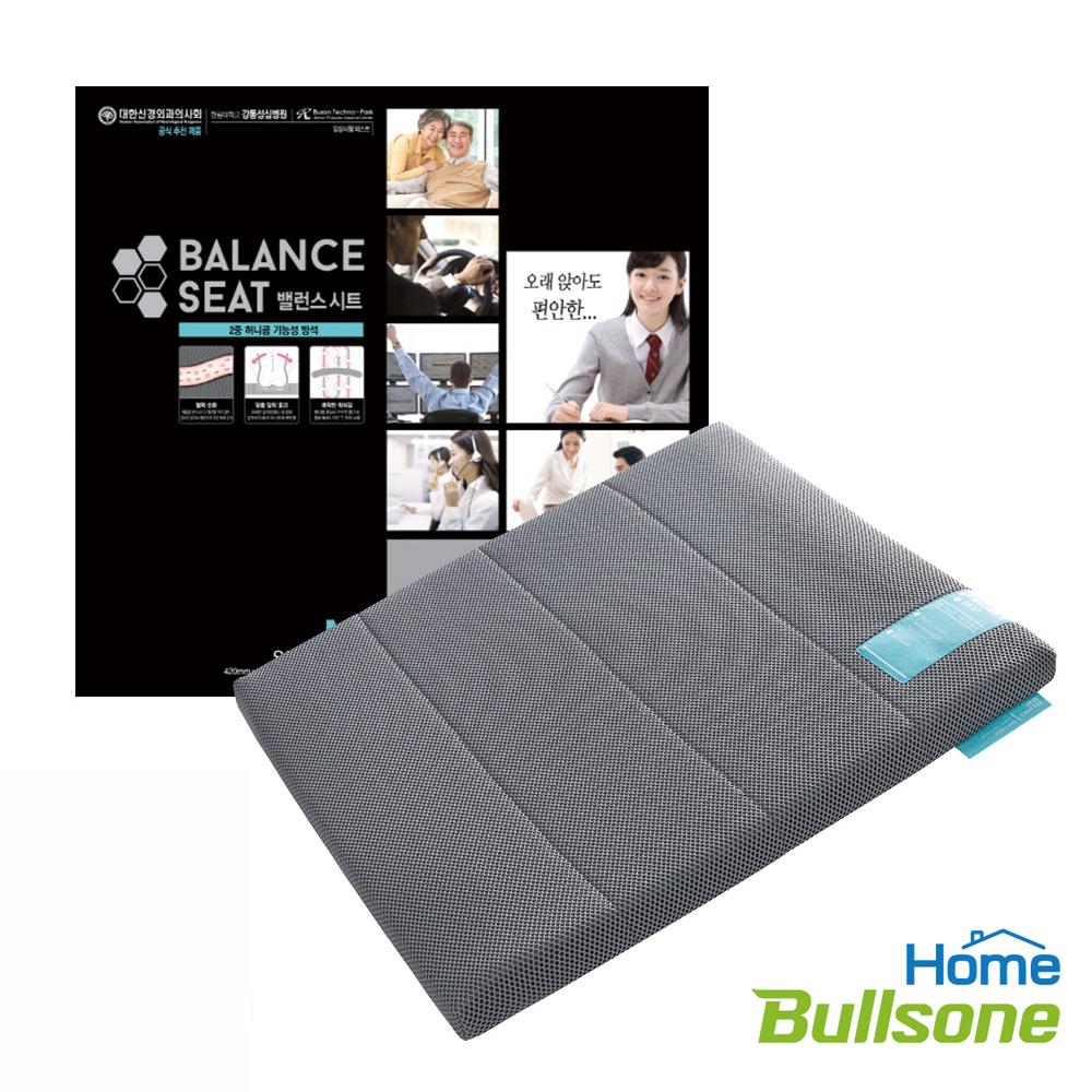 【Bullsone-勁牛王】蜂巢凝膠健康坐墊-灰色(L號)