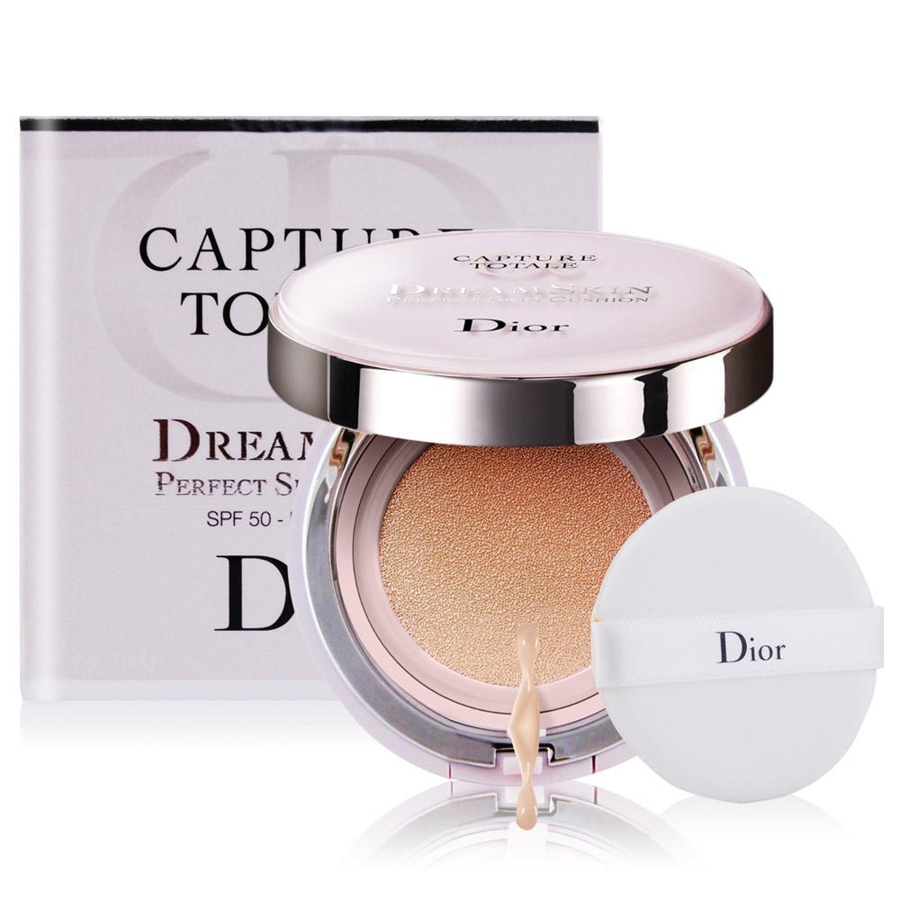 Dior 迪奧 夢幻美肌氣墊粉餅SPF50 PA+++(15gX2)#020+針管香水贈品(隨機出貨)X1