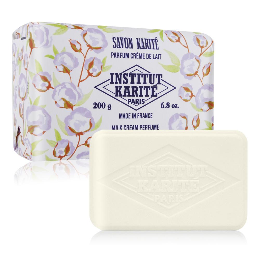 Institut Karite Paris 巴黎乳油木 牛奶乳霜花園香氛手工皂(200g)-公司貨