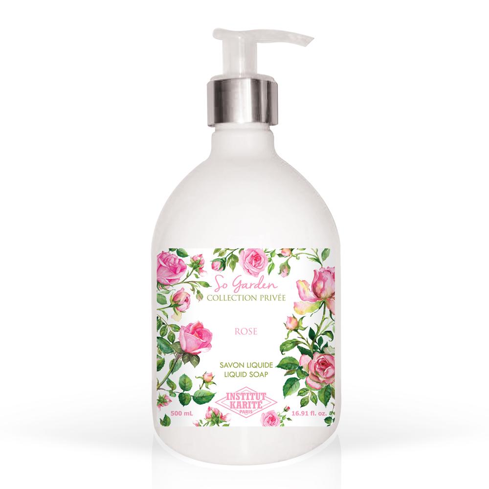 Institut Karite Paris 巴黎乳油木 玫瑰花園香氛液體皂(500ml)-公司貨