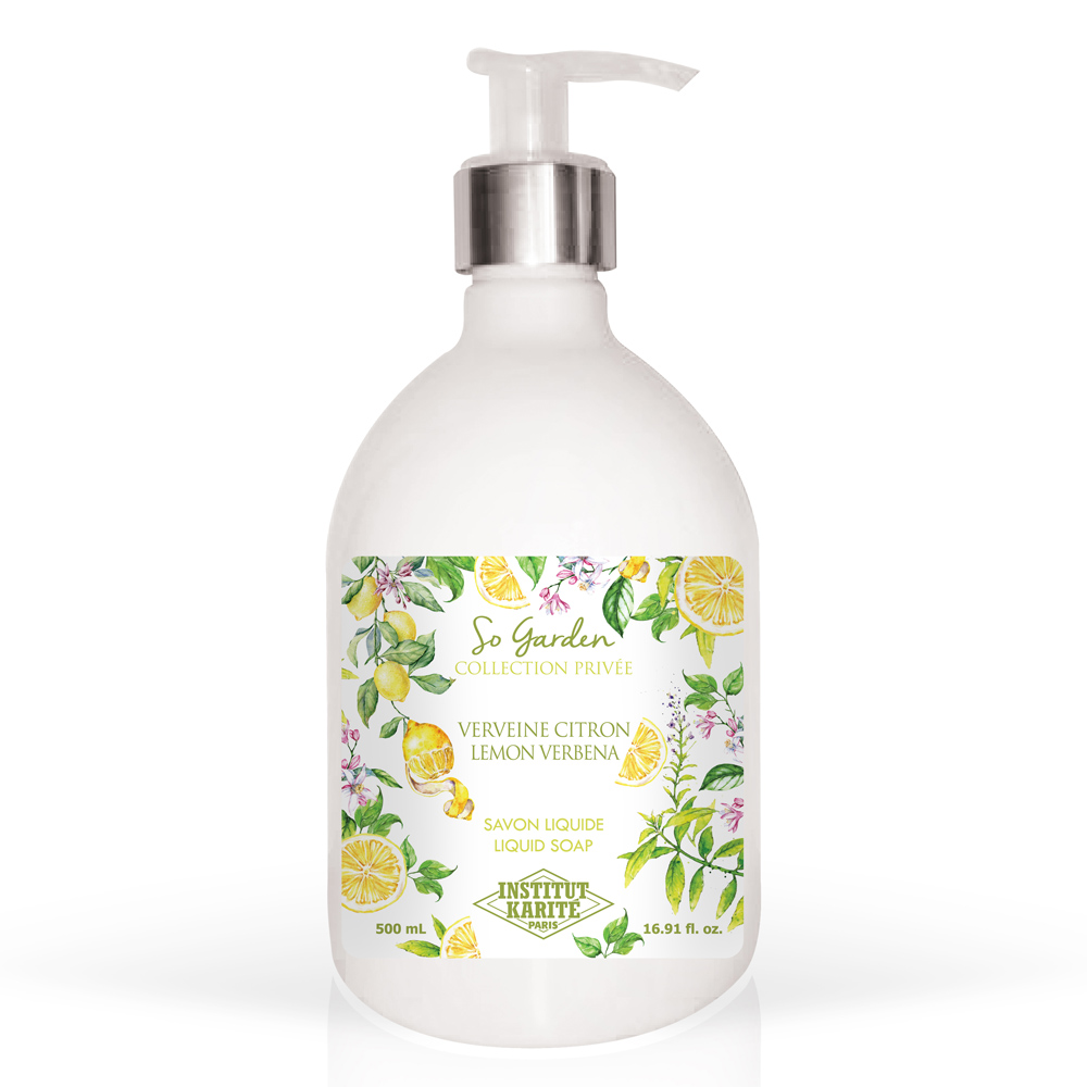 Institut Karite Paris 巴黎乳油木 檸檬馬鞭草花園香氛液體皂(500ml)-公司貨
