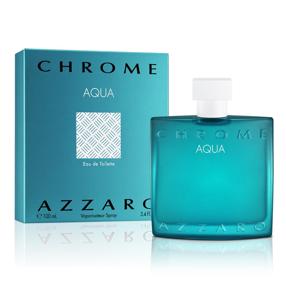 AZZARO chrome aqua 碧海鉻元素男性淡香水(100ml)-公司貨