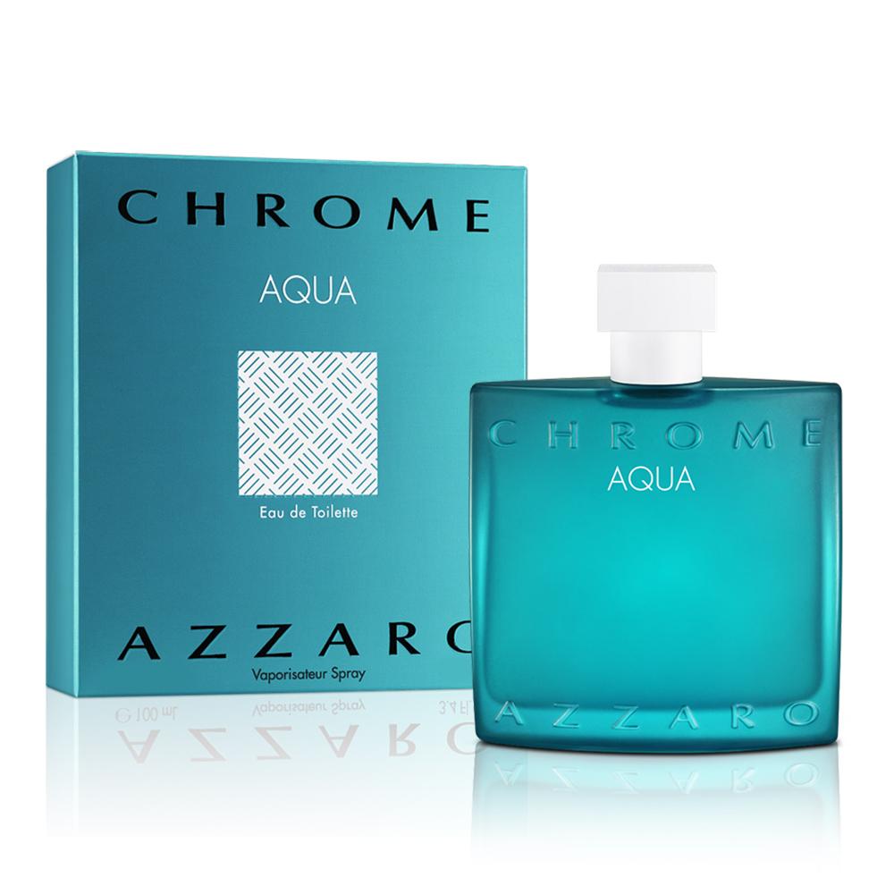 AZZARO chrome aqua 碧海鉻元素男性淡香水(50ml)-公司貨