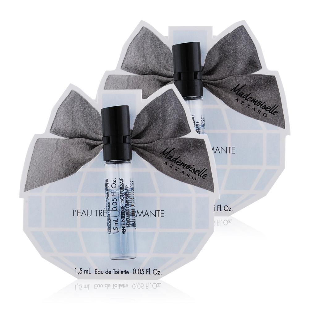 AZZARO MADEMOISELLE 夢幻晶采女性淡香水(1.5ml)X2-隨身針管試香-公司貨