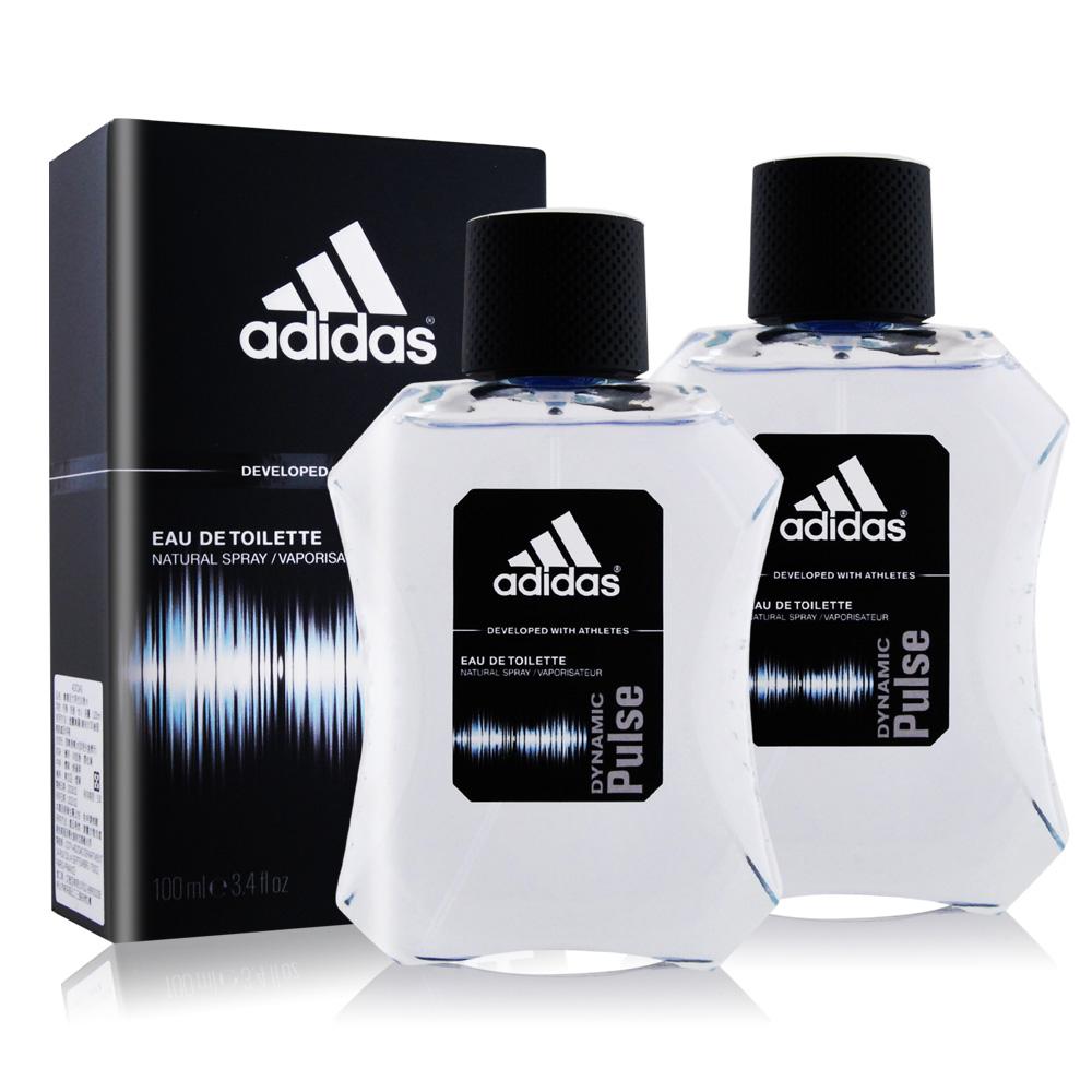 ADIDAS 愛迪達 青春活力男性淡香水(100ml)X2