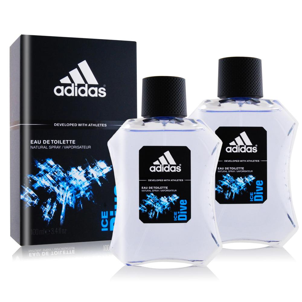 ADIDAS 愛迪達 品味透涼男性淡香水(100ml)X2