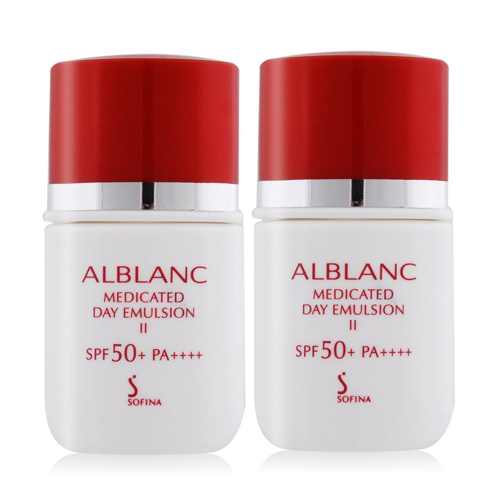 SOFINA 蘇菲娜  潤白美膚盈透UV防護乳II升級版SPF50+/PA++++(9ML)X2