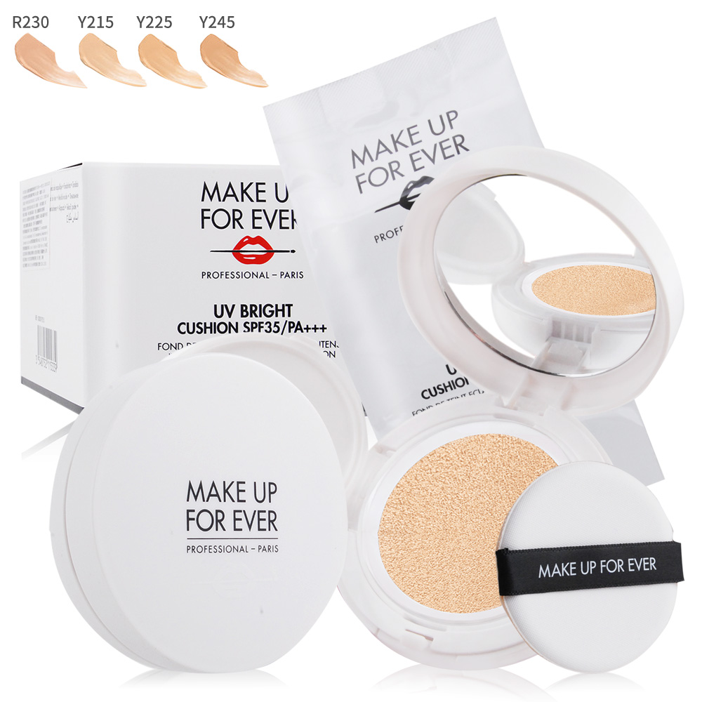 MAKE UP FOR EVER 晶漾防曬氣墊粉餅SPF35/PA+++(15g*2)#Y245-期效202010
