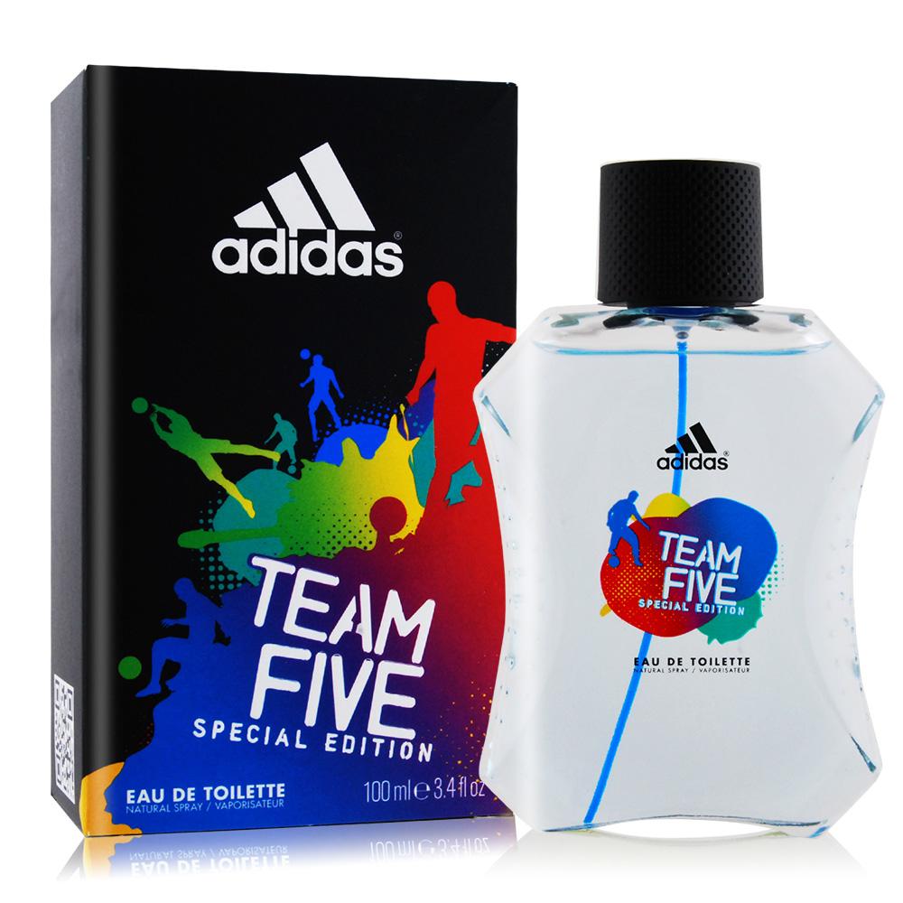 ADIDAS 愛迪達 TEAM FIVE 五人團隊運動男性淡香水(100ml)