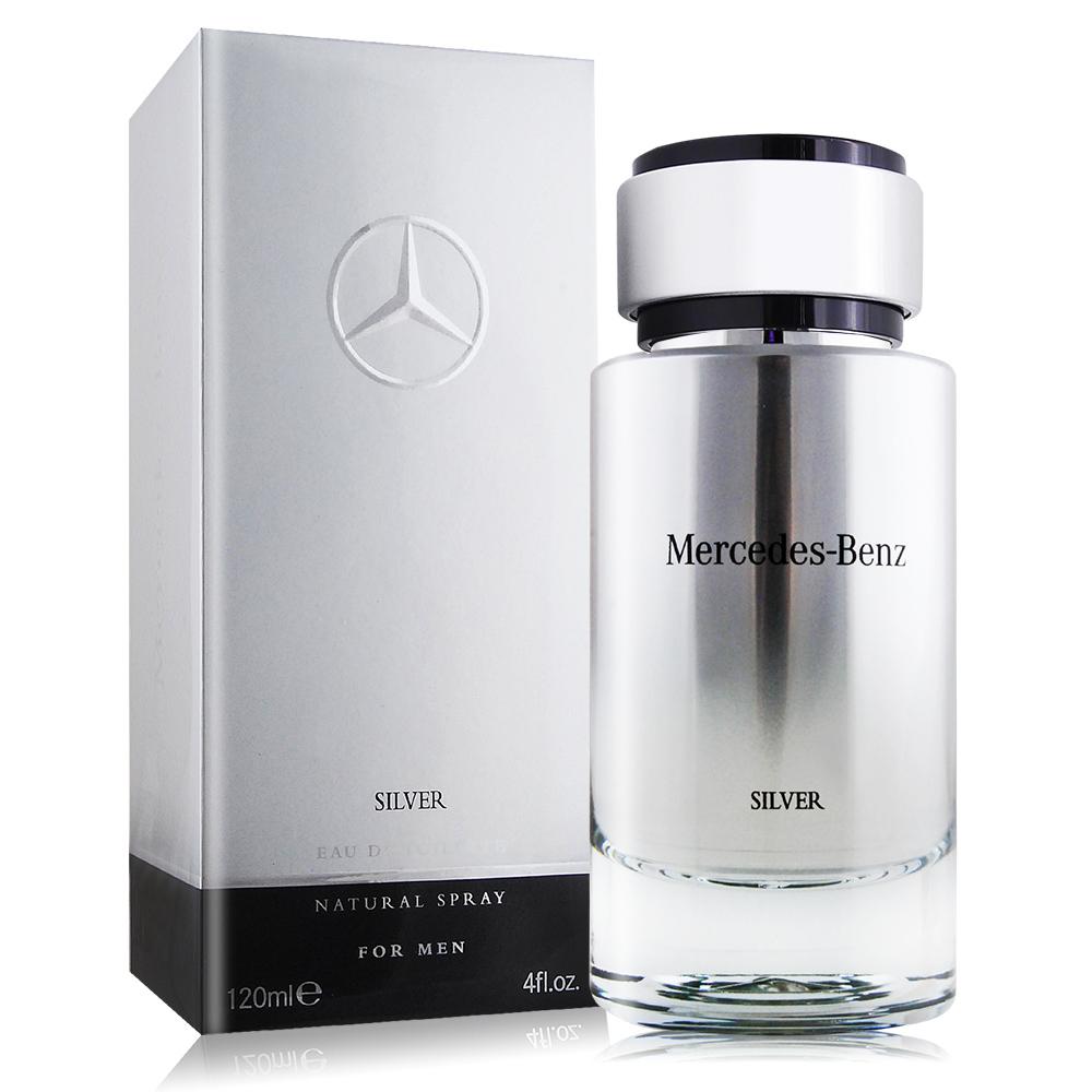 Mercedes Benz 賓士 銀輝幻羽男性淡香水 SILVER(120ml) EDT-國際航空版