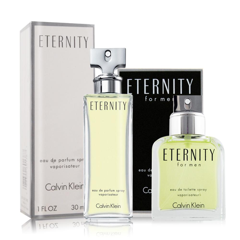 Calvin Klein CK Eternity 永恆男女對香組[淡香水+淡香精](30mlX2)-國際航空版