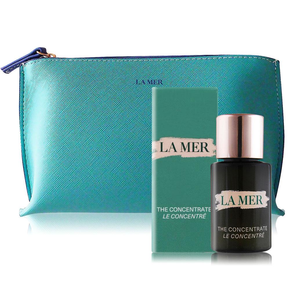 LA MER 海洋拉娜 濃萃修復精華(5ml)加贈品牌化妝包