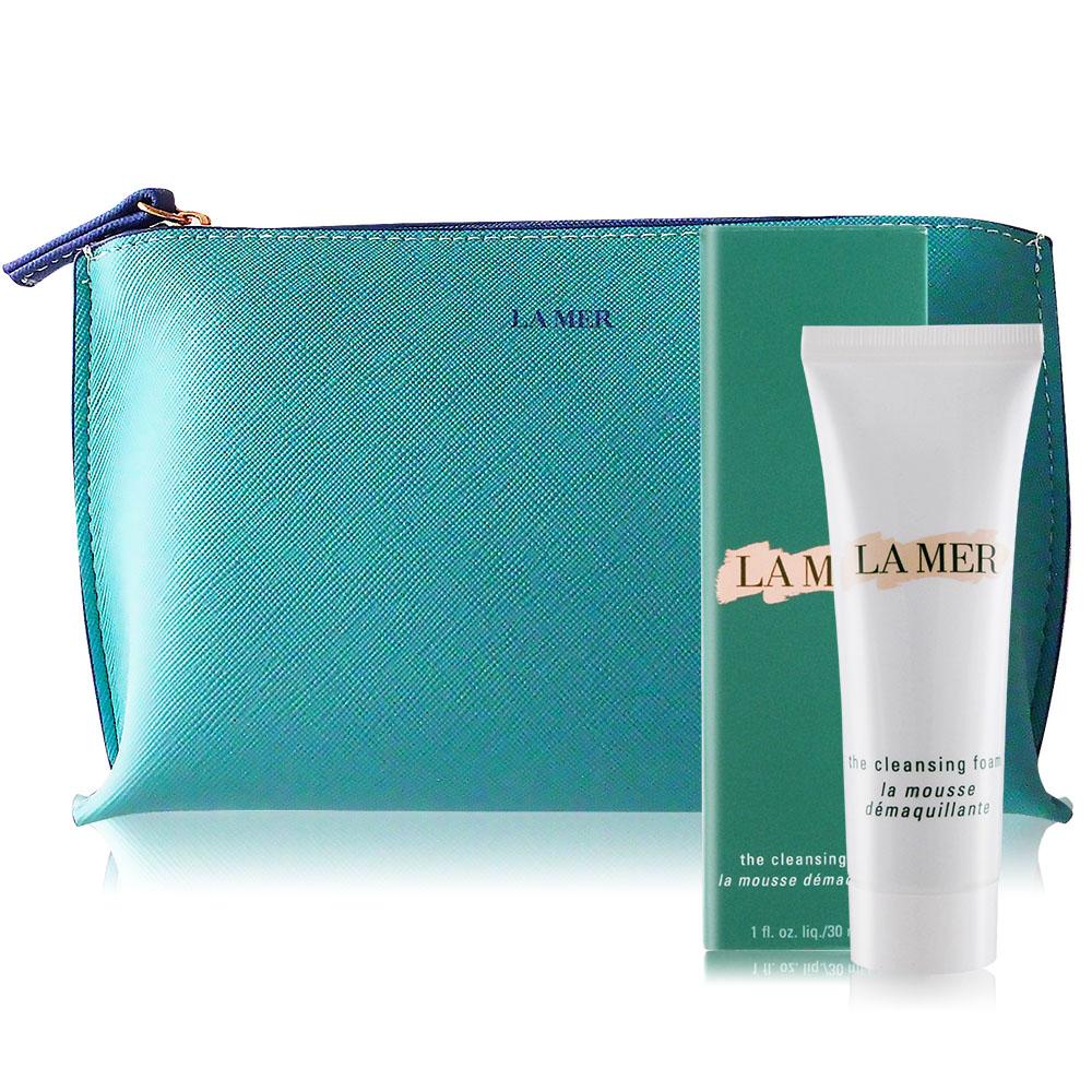 LA MER 海洋拉娜 淨瑩潔膚乳(30ml)加贈品牌化妝包