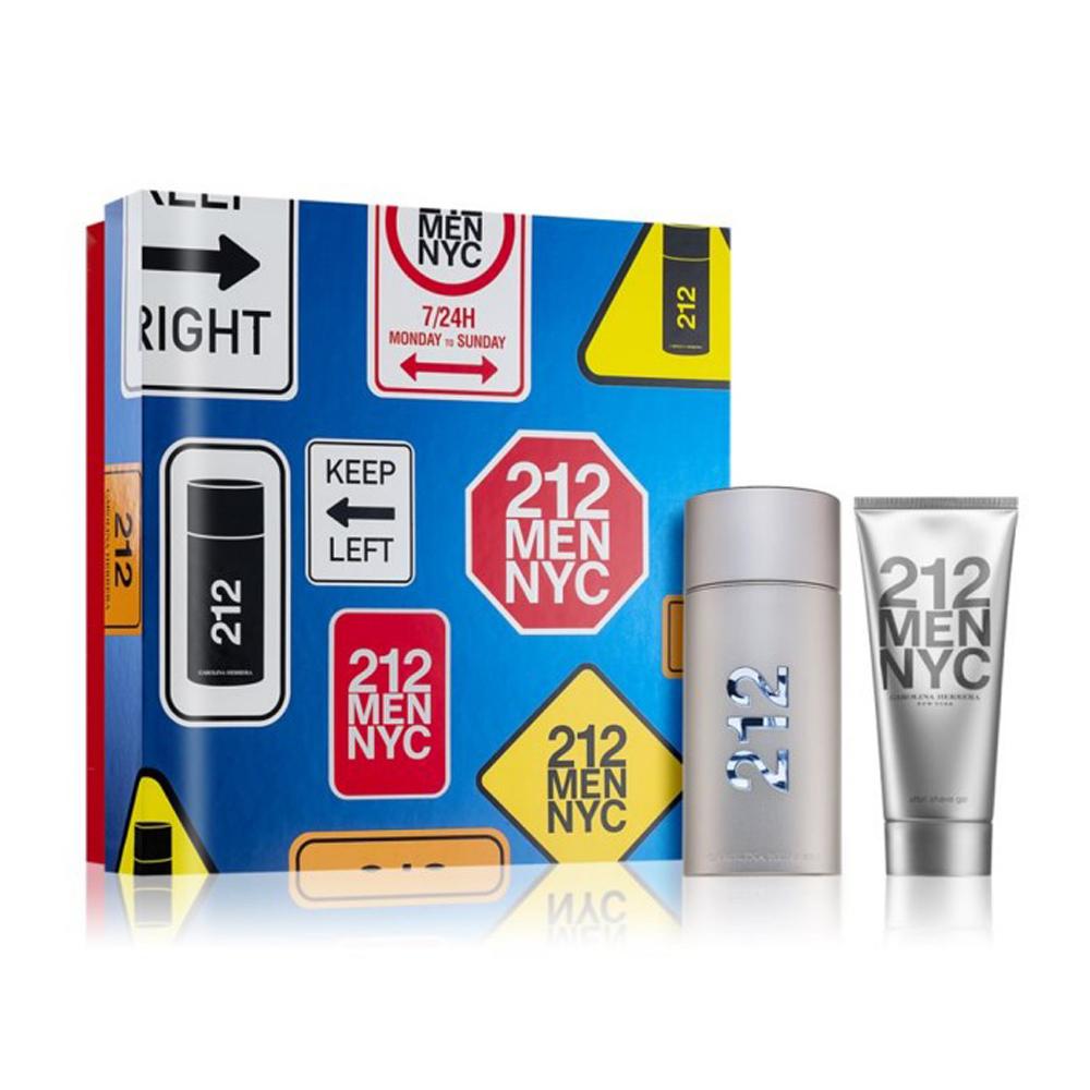 Carolina Herrera 212男性淡香水禮盒(100ml+鬍後乳100ml) EDT-香水公司貨