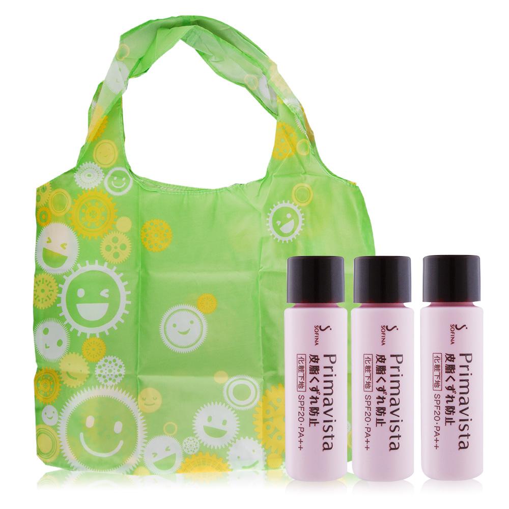 SOFINA 蘇菲娜 Primavista 零油光妝前修飾乳SPF20‧PA++(升級版) (5ml)X3贈 微笑提袋
