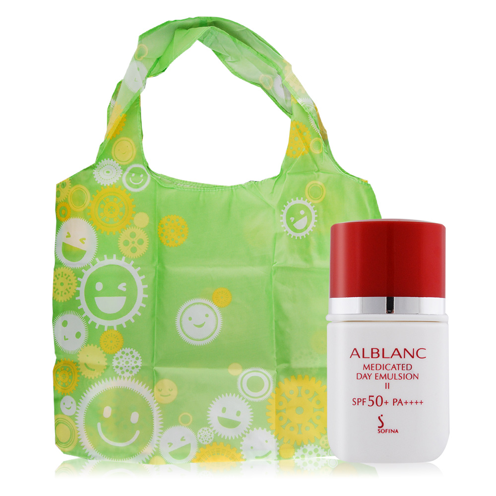 SOFINA 蘇菲娜  潤白美膚盈透UV防護乳II升級版SPF50+/PA++++(9ML)+微笑提袋