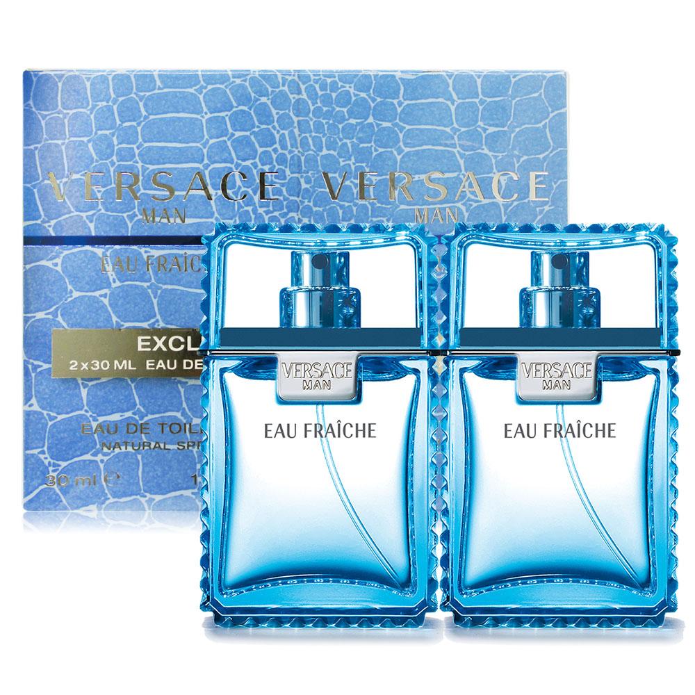 Versace 凡賽斯 雲淡風輕男性淡香水禮盒 Eau Fraiche(30mlX2)-國際航空版