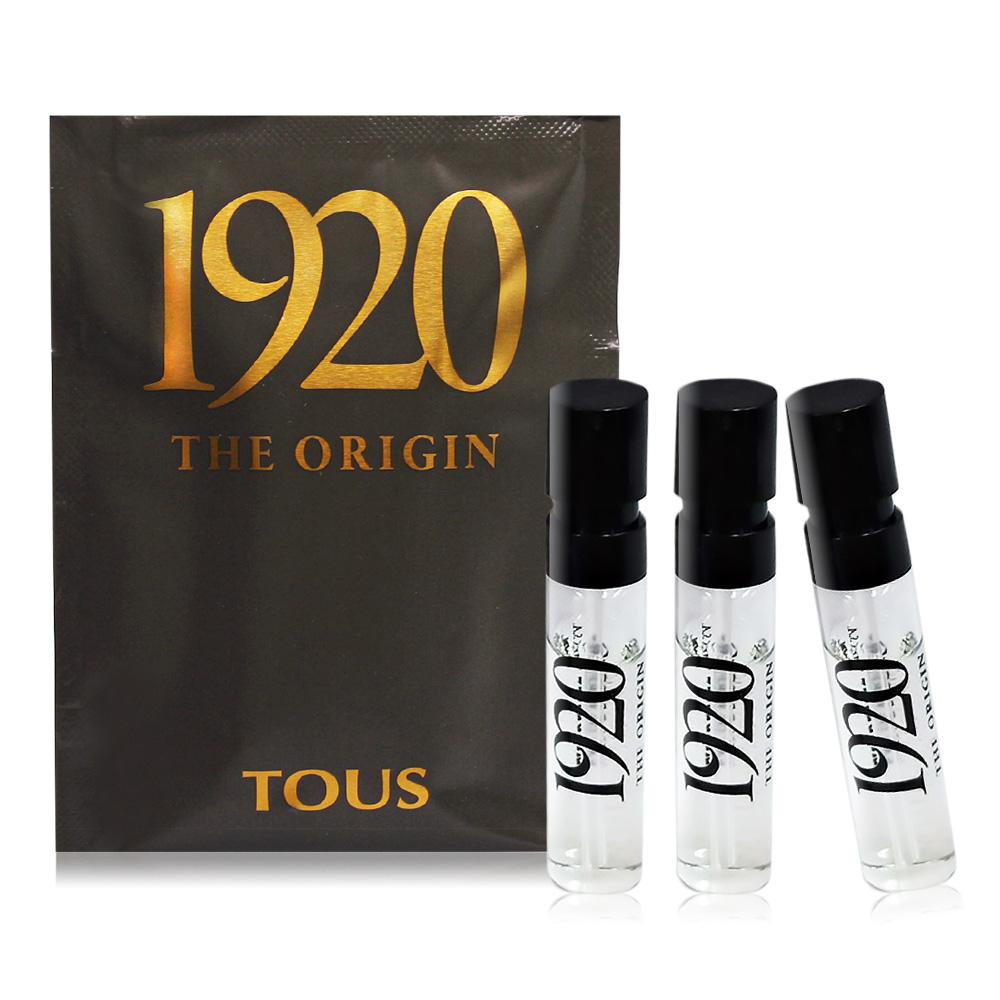 TOUS 1920男性淡香精(1.5ml)X3 EDP-隨身香水針管試香