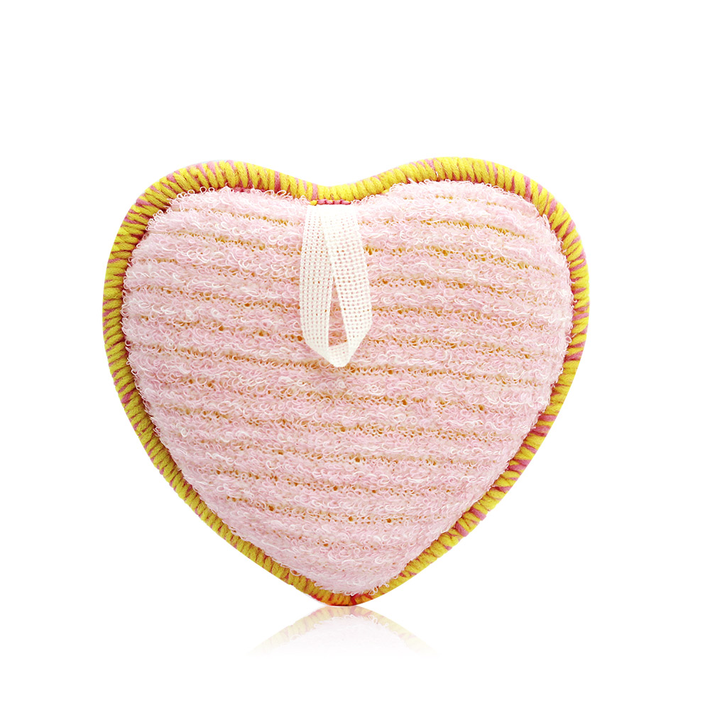 FANCL 芳珂 深層潔淨潔顏海綿(愛心型)-粉紅(8x8.3x2.7cm)