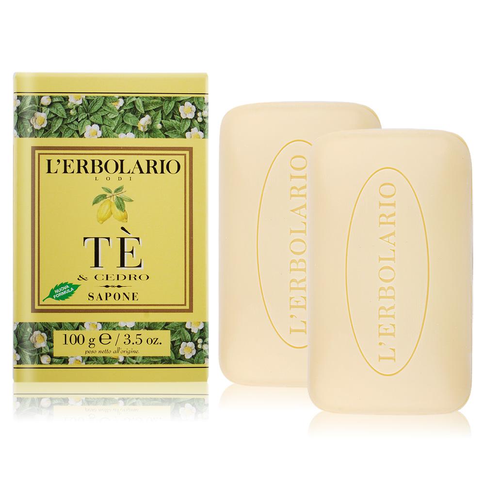 L'ERBOLARIO 蕾莉歐 茶樹香柏植物皂(100g)X2-期效202202