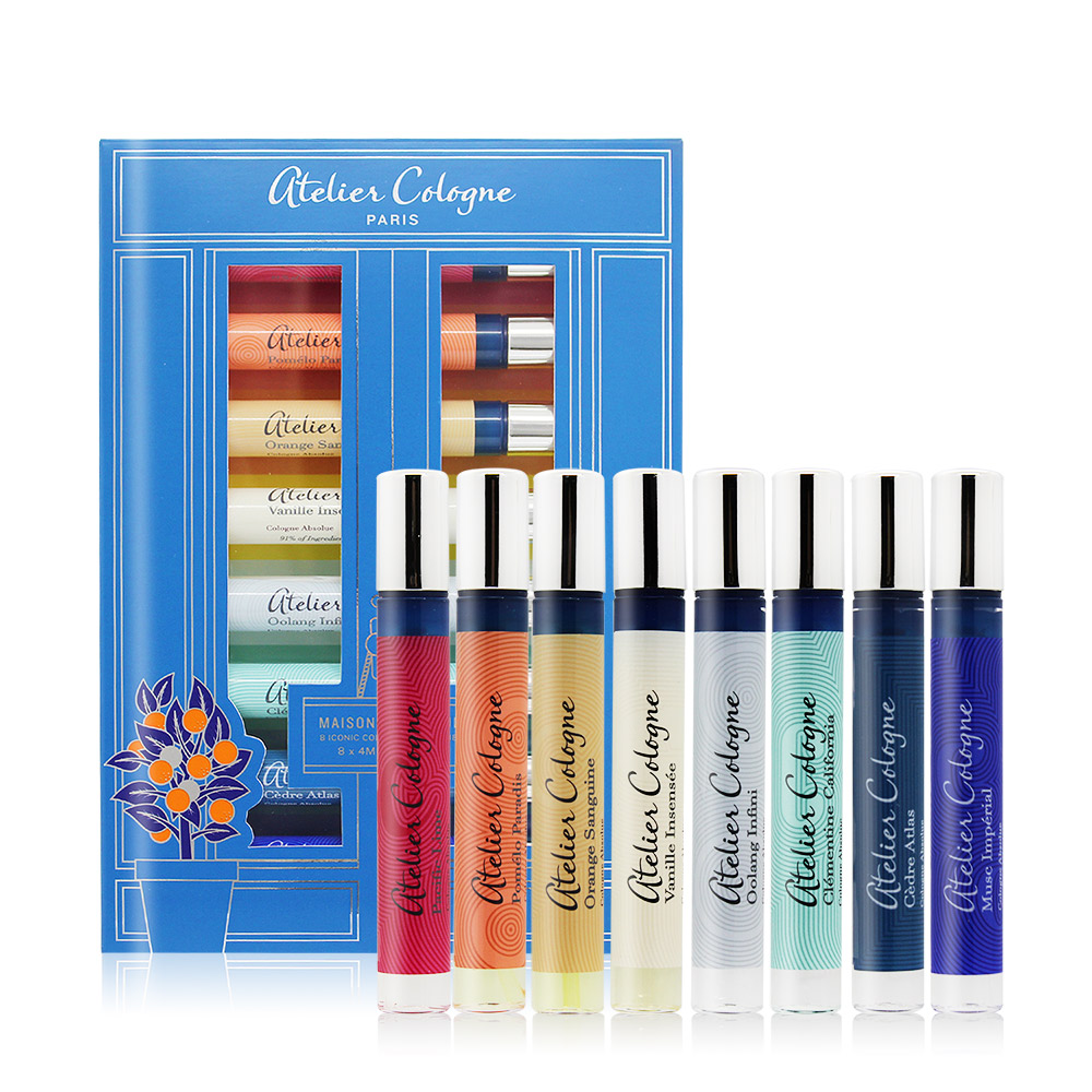 ATELIER COLOGNE 歐瓏 香氛衣橱香水禮盒 Maison de Parfum(4mlX8)-國際航空版