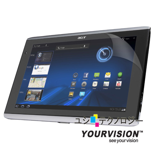 ACER A500 晶磨抗刮高光澤機身正面保護貼