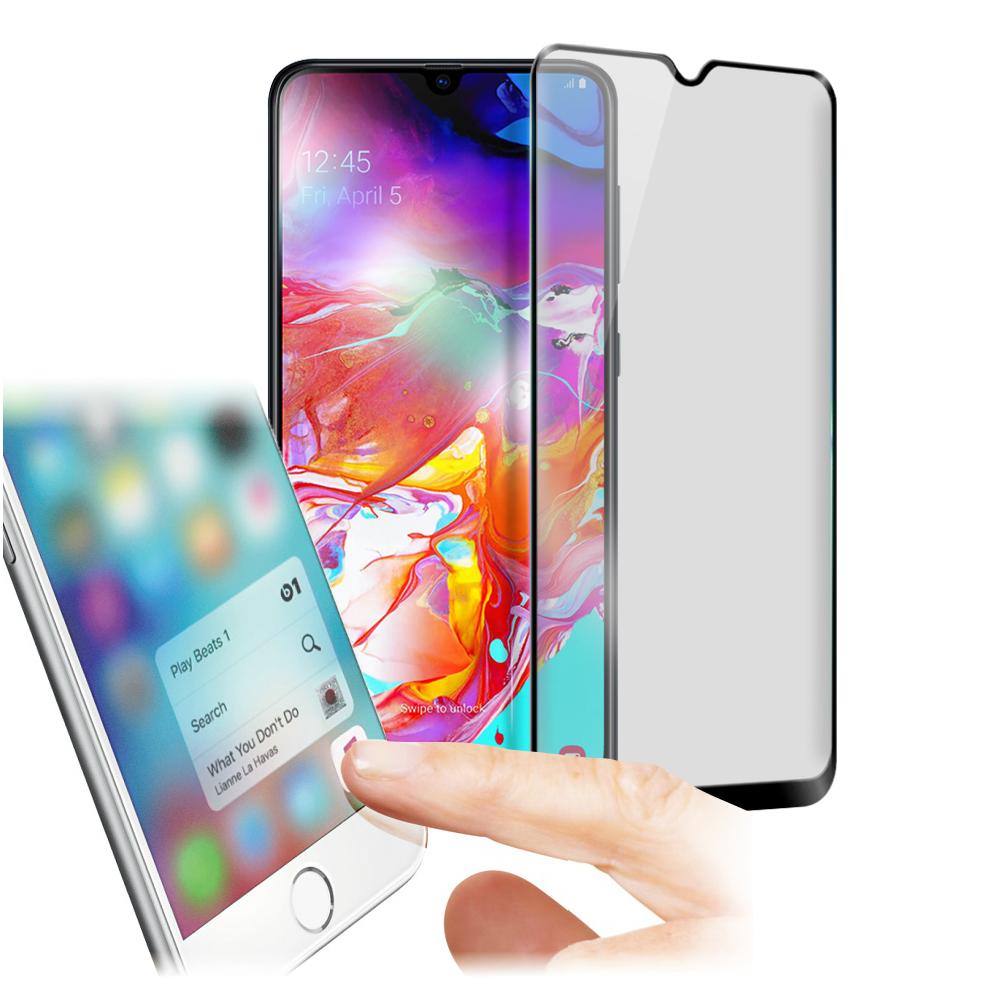 Xmart for 三星 Samsung Galaxy A70  防指紋霧面滿版玻璃保護貼