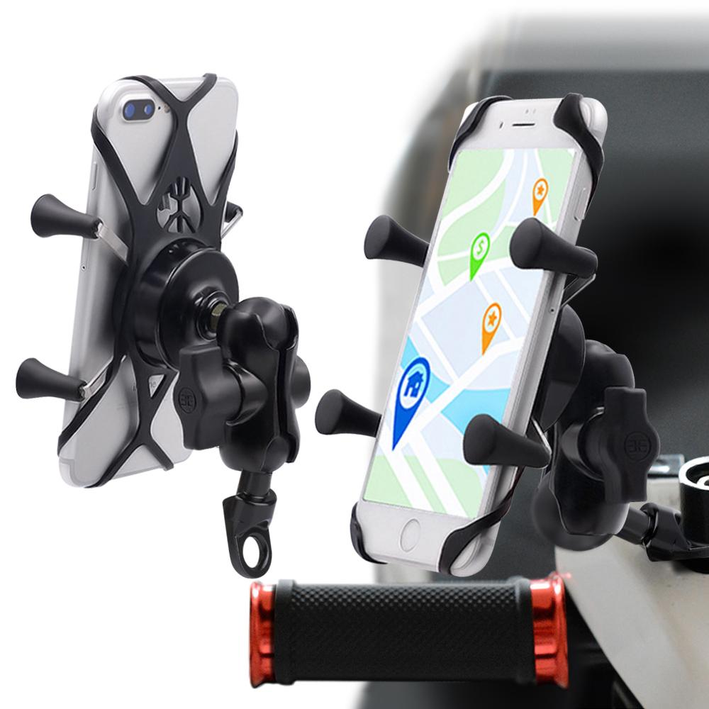 City 鋁合金機車單車快拆手機架-後視鏡面安裝款型 機車手機架