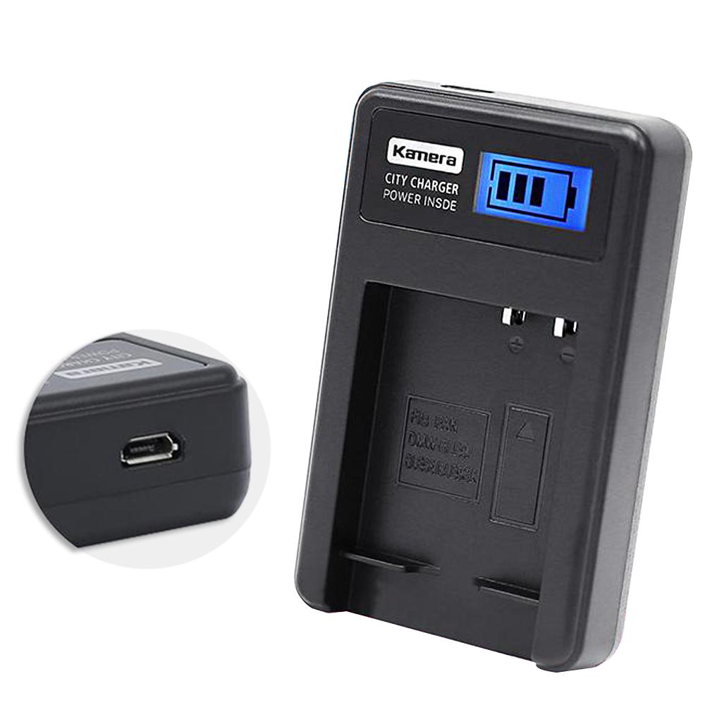 Kamera 佳美能 液晶顯示充電器 for DMW-BLE9,BLG10,BLH7 電池用